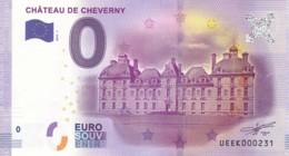 FRANCE - Billet Touristique 0 €uro 2016 / CHÂTEAU DE CHEVERNY. - Essais Privés / Non-officiels