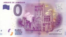 FRANCE - Billet Touristique 0 €uro 2016 / ABBAYE DE JUMIEGES. - Essais Privés / Non-officiels