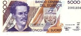 Ecuador P.128c 5000 Sucres 1999 Unc - Ecuador