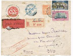 VIET NAM SAIGON  LETTRE RECOMMANDEE 1929 - Lettres & Documents