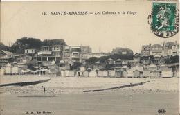 Carte Postale Ancienne De Sainte Adresse Les Cabanes Et La Plage - Sainte Adresse