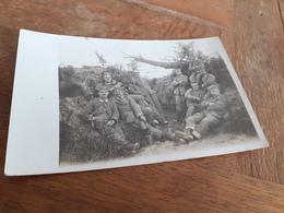 DEUTSCHE MAENNER DAZUMAL - IM SCHUETZENGRABEN - 1916 - BRIEF VON ALFRED AN BRUDER - ZEITZEUGNIS - Guerra, Militares