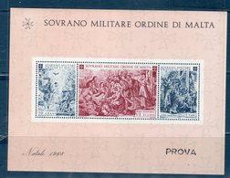 S.M.O.M  1986 -- NATALE BF --  RARA / RARE --  PROVA / PROOF - Malta (Orden Von)