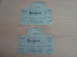 LOT DE 2 TELEGRAMMES PUBLICITE BON POUR UN ESSAI CHEZ PEUGEOT 1926 - Postmark Collection (Covers)