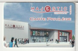 CINÉCARTE - CARTE CINÉMA - MAJESTIC Carte Privilège - Movie Cards