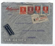 Argentina VIA CONDOR AIRMAIL REGISTERED COVER To Germany 1935 - Poste Aérienne