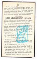 DP Emile Louis A. Depauw ° Kessel-Lo 1913 † Leuven 1936 / Allaerts - Images Religieuses