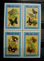 TIMBRES NEUF PAPILLONS PALAU 1987 150- 153 TIMBRE Papillon - Schmetterlinge