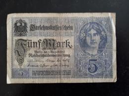 Billet Allemagne 5 Marks 1917  & - [ 2] 1871-1918 : Impero Tedesco