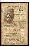 Carte D'identité De Guillaume COLAS - Négociant Tapissier - RENNES - 3 Rue De Rohan (1910) Né à SAINT-BRIEUC - Genealogie