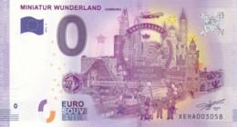 ALLEMAGNE - Billet Touristique 0 €uro 2016 / MINIATUR WUNDERLAND - 15 ANS . - Essais Privés / Non-officiels