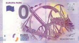 ALLEMAGNE - Billet Touristique 0 €uro 2016 / EUROPA PARK . - Essais Privés / Non-officiels