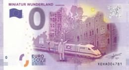 ALLEMAGNE - Billet Touristique 0 €uro 2016 / MINIATUR WUNDERLAND . - Essais Privés / Non-officiels
