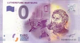 ALLEMAGNE - Billet Touristique 0 €uro 2016 / LUTHERSTUBE WARTBURG . - Essais Privés / Non-officiels