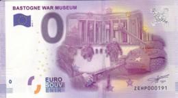 BELGIQUE - Billet Touristique 0 €uro 2016 / BASTOGNE WAR MUSEUM . - Essais Privés / Non-officiels