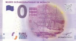 MONACO - Billet Touristique 0 €uro 2016 / MUSEE OCEANOGRAPHIQUE DE MONACO . - Essais Privés / Non-officiels