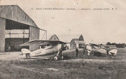 935 - 33 - BEAU DESERT MERIGNAC . AEROPORT . AVIATION CIVILE . .BELLE ANIMATION . SCANS RECTO VERSO - Merignac