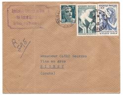 France Lettre Recommandée  Provisoir De Besancon Doubs  Marianne De Gandon  Colombe De La Paix Pour Rigney - 1921-1960: Periodo Moderno