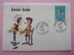 FDC Lucky Luke  Fête Du Timbre 2003 - Comics
