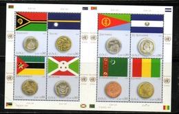 NATIONS UNIES   GENEVE 2015  NEUFs CH.    N° 893 à 900     N**   Drapeaux Monnaies   Valeur Faciale : 7,20 CHF - Neufs