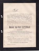 UCCLE SAINT-GILLES Archiitecte CLUYSENAAR Jean-Pierre  68 Ans 1880 Familles De LAVELEYE SAINTENOY Commission Royale - Décès