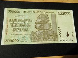 ZIMBABWE 500.000  Dollars  5.11. 2008 Unc - Zimbabwe