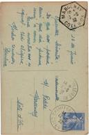 Marcenay Cote D'or 1932 - Cachet Hexagonal Agence Rurale - 1921-1960: Moderne