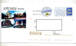 Pap Logo Bleu Flamme Chiffree Illustré Ercheu - Ganzsachen