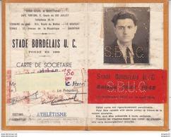 Au Plus Rapide Carte De Membre Du SBUC Bordeaux Section Athlétisme Saison 1947 1948 Lion Très Bon état - Athlétisme