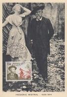 Carte  Maximum  1er  Jour   MONACO   Frédéric   MISTRAL    1964 - Cartes-Maximum (CM)