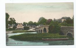 Berkshire Postcard Frith's Hand Coloured Sonning Bridge - Inghilterra
