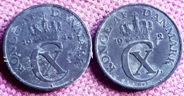 DENEMARKEN : 1 ORE 1942 En 1944  KM 832 - Danimarca