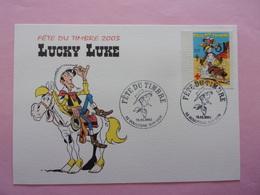 FDC Lucky Luke  Fête Du Timbre 2003 Carte Postale Croix Rouge - Bandes Dessinées