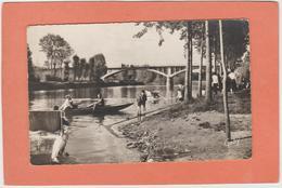 PLECHATEL BAIN-DE-BRETAGNE GUIPRY-MESSAC  N° 22 PONT DE LA CHARRIERE PLAGE  ANIMATION BARQUE  An: Vers 1950  Etat: TB - Altri Comuni