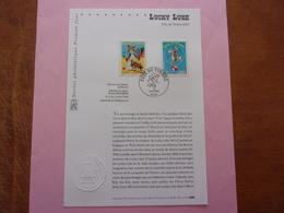 FDC Lucky Luke  Fête Du Timbre 2003 Notice Croix Rouge - Comics