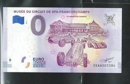 0 €  Musée Du Circuit De Spa-Francorchamps  N° ZEAA003384 - [ 8] Finti & Campioni