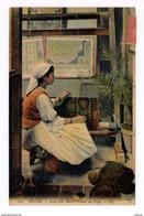 Alger. Jeune Fille Maure Tissant Un Tapis. (1610) - Kunsthandwerk