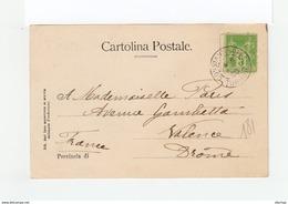 Sur Carte Postale Torino Pour Valence Type Blanc 5 C. Vert Jaune CAD Constantinople Turquie 1900.(1133x) - 1858-1921 Ottoman Empire