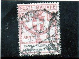 CG40 - 1924 Italia - Enti Parastatali - Cassa Nazionale Assicurazioni Sociali - 1900-44 Vittorio Emanuele III
