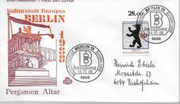 ALLEMAGNE  BERLIN   FDC  1988 Armoirie De Berlin - Coat Of Arms