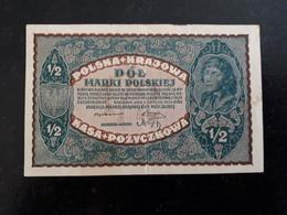 Billet Pologne 1/2   1920  & - Pologne