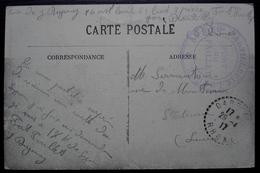 Dardilly 1917 Fort Du Paillet 84e Régiment D'artillerie Lourde, Cachets Sur Carte De Lyon - Marcofilie (Brieven)