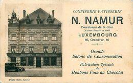 Cpa LUXEMBOURG - Confiserie Pâtisserie NAMUR 60 Grand'rue - Fournisseur De La Cour - Luxemburg - Town