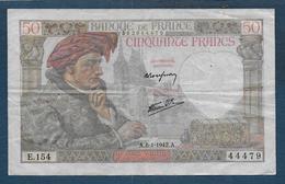 Billet De 50 Fr  Jacques Coeur  Du  8 - 1 - 1942 - 1871-1952 Circulated During XXth