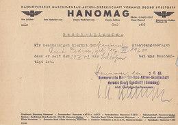 Hanomag ,certificat De Travail à Un STO Français ,1942 - Documents