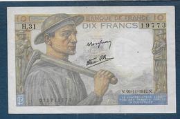 Billet De 10 Fr  Mineur  Du  26 - 11 - 1942 - 10 F 1941-1949 ''Mineur''