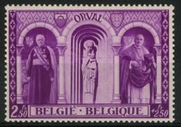 [A1205] België 517-V3 ** - Horizontale Kleurstreep Over Beeld - Griffe De Couleur Horizontale - Variétés (Catalogue COB)