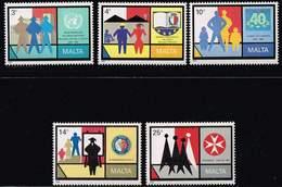 Malta 1989, Michel# 822 - 826 ** - Malta