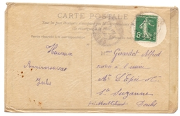 France Semeuse Tarif Carte Postale Sous Enveloppe Cristal - 1877-1920: Période Semi Moderne