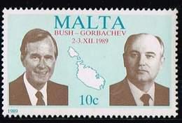 Malta 1989, Michel# 830 ** Presidents Bush & Gorbachev - Malta